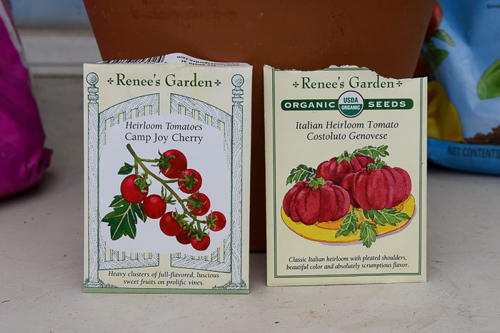 Camp Joy and Costoluto Genovese Renees Garden seeds