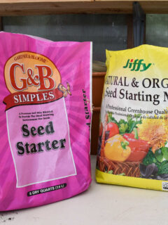 seed starting mix bags