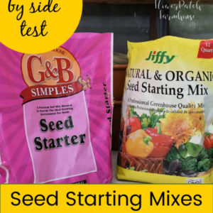 various seed starting mixes with text overlay, Seed Starting mixes, are they necessary for success, flower patch farmhouse