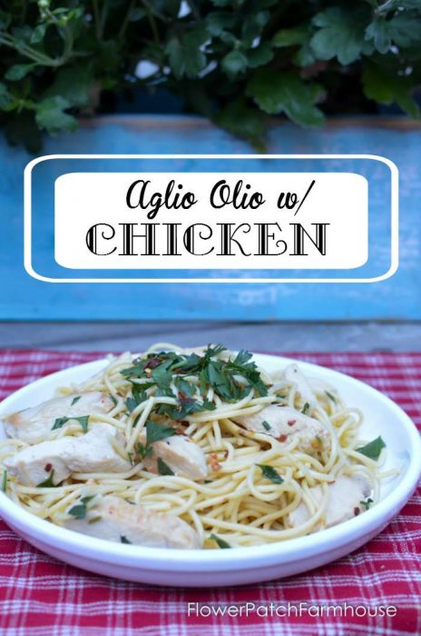 Aglio e Olio with Delicious Chicken