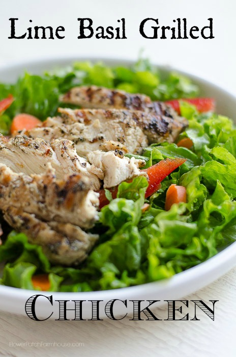 Lime Basil Grilled Chicken Breast