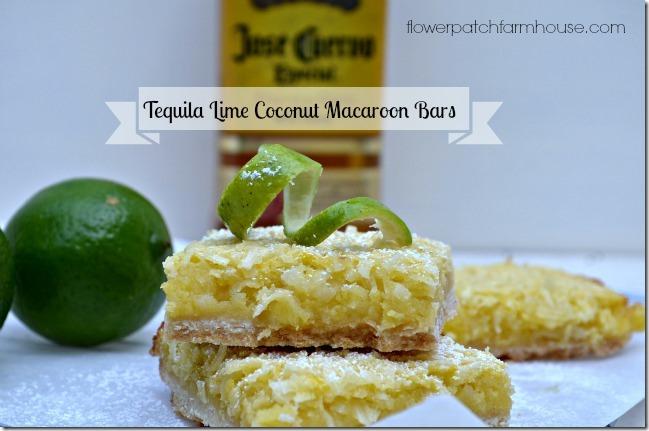 Tequila Lime Coconut Macaroon Bars